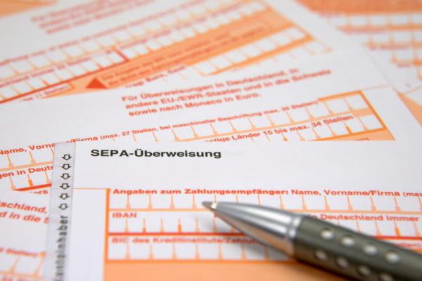 Überweisungsvorlage SEPA